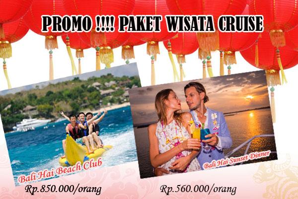 Promo Special Tahun Baru Imlek Bali Hai Beach Cub & Bali Hai Sunset Dinner Cruise